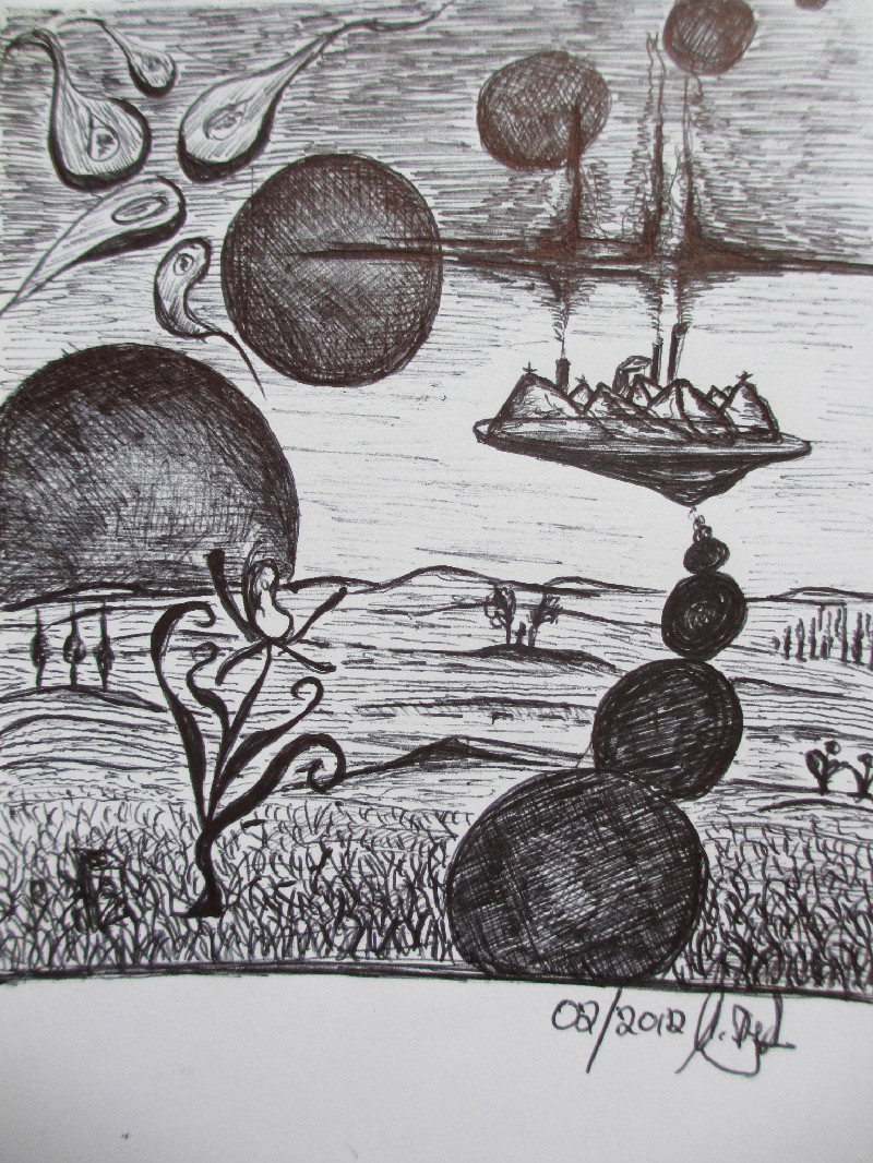 """""""Io, Eurpoa, Ganymed, Kalisto und Amalthea"""". Eine Studie. Bleistift. Februar 2012"""