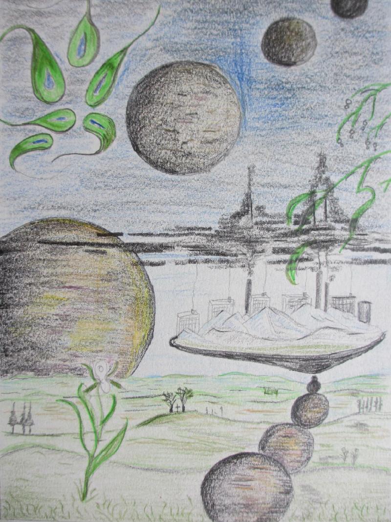 """""""Io, Europa, Ganimed,Kalisto und Amalthea"""". Eine Studie. Bundstift. Undatiert."""