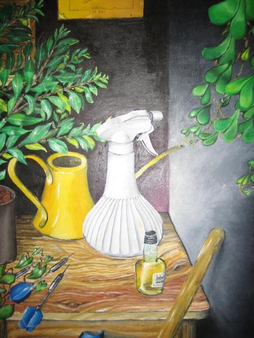 Stilleben mit Pflanzen. Öl auf Leinwand. undatiert. 1990