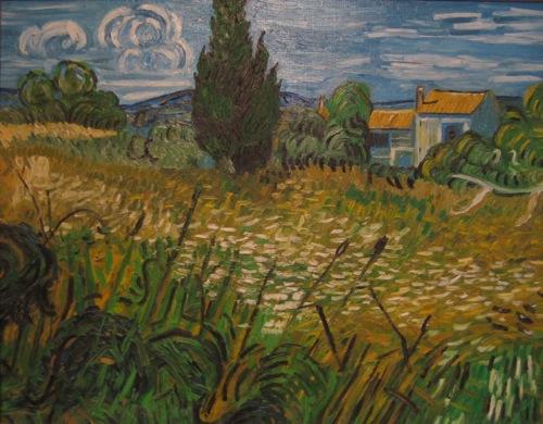 """""""Zypresse"""" Kopie von van Gogh. Öl auf Leinwand. undatiert."""