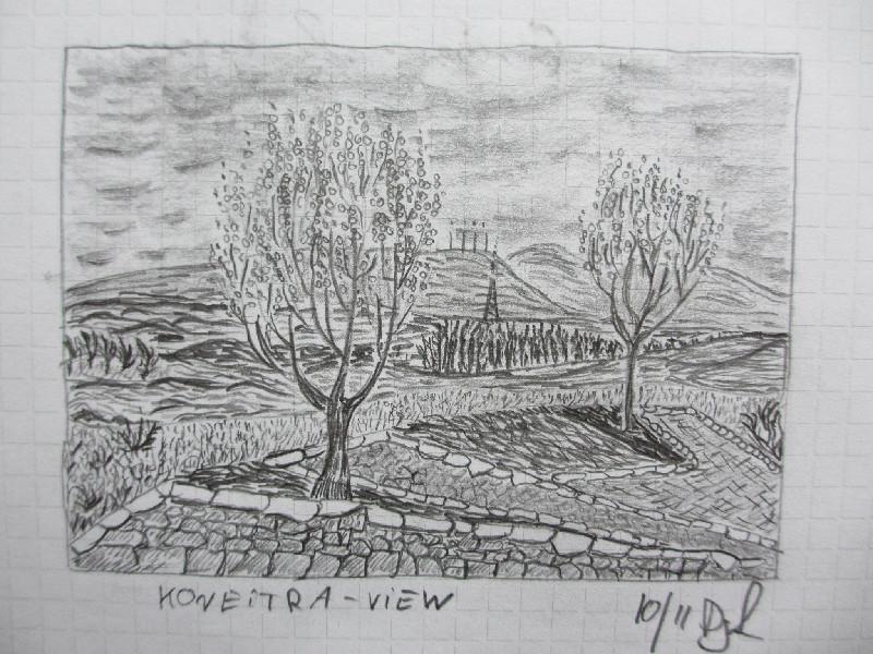 """""""Koneitra View"""" Eine Studie. Bleistift. Oktober 2011."""